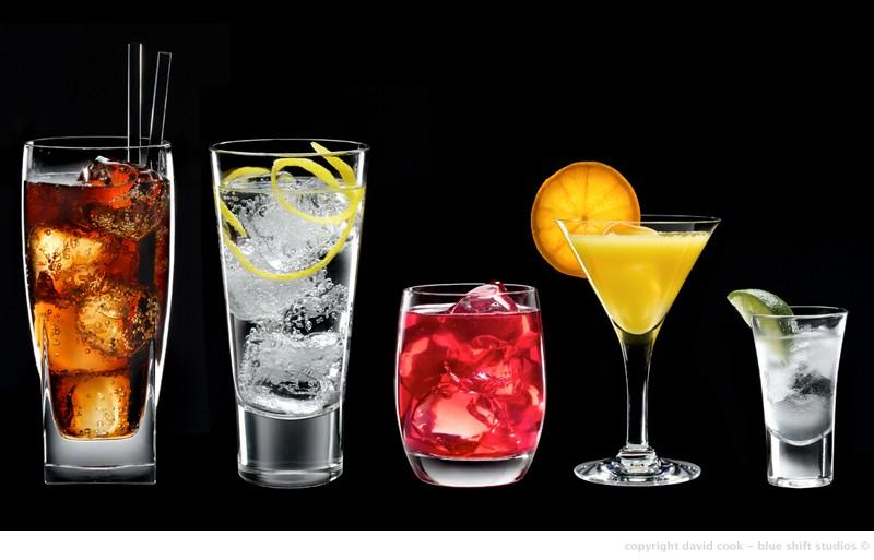 drinks line up