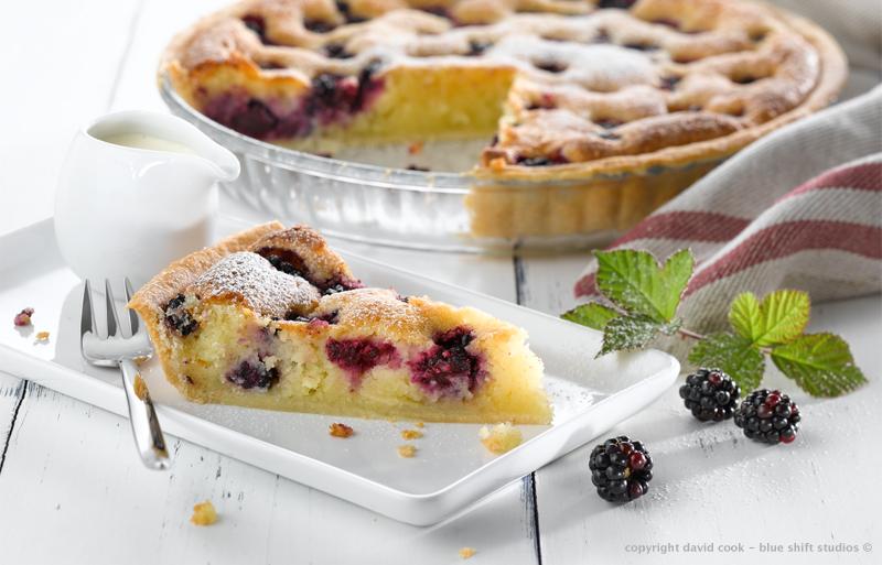 pyrex frangipan tart